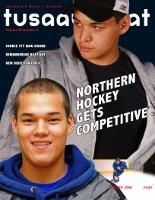 Tusaayaksat magazine cover, Winter 2008